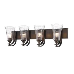 Millenium Lighting Natalie 4-Light Vanity Light With Clear Seeded Glass - Rubbed Bronze