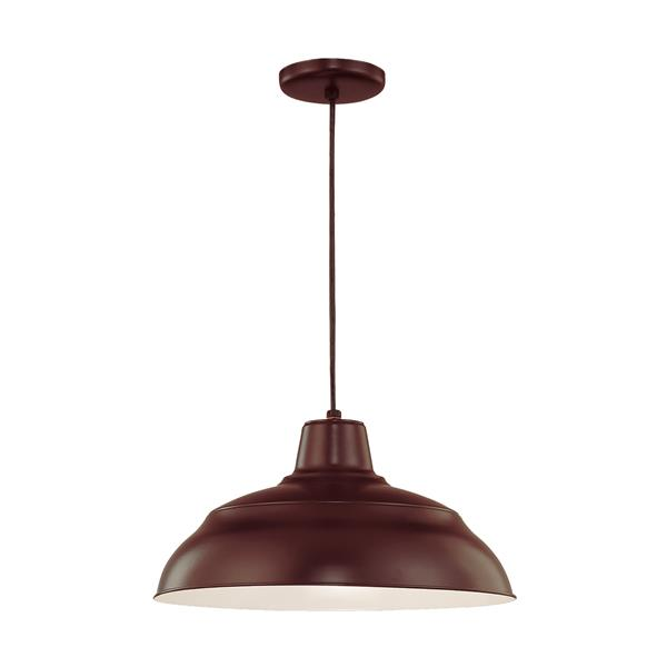Millenium Lighting R Series Warehouse 1-Light Cord Hung Pendant Light - 17-in - Oil Rubbed Bronze