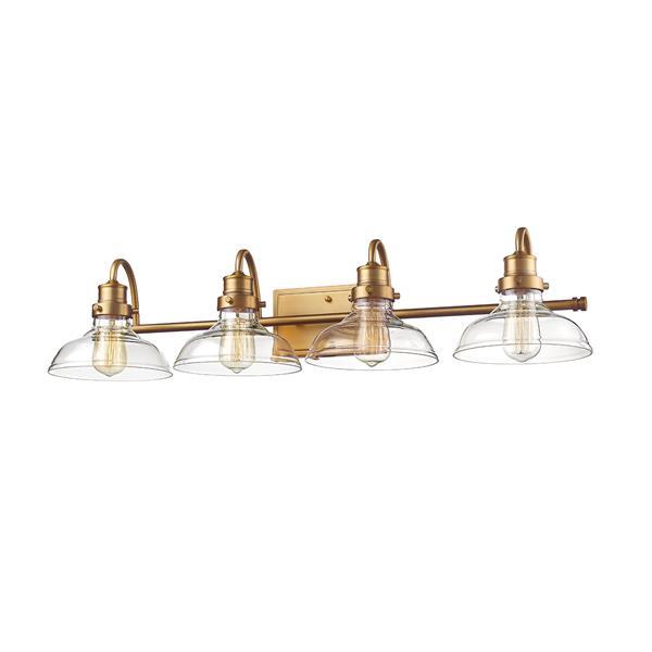 Millenium Lighting 4-Light Vanity Light With Clear Glass - Heirloom Bronze