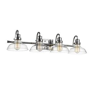 Millenium Lighting 4-Light Vanity Light With Clear Glass - Chrome