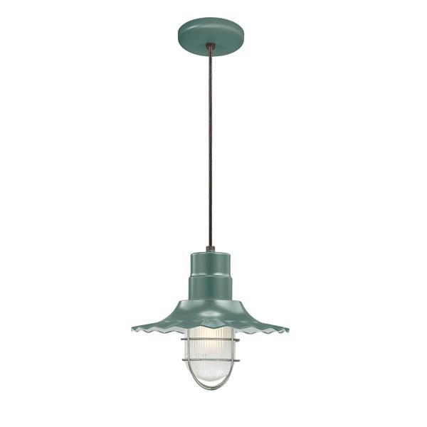 Millenium Lighting R Series 1-Light Pendant Light - 12-in - Satin Green