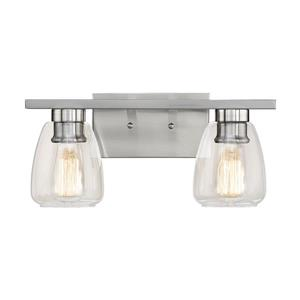 Millenium Lighting 2-Light Vanity Light With Clear Glass - Satin Nickel