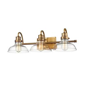 Millenium Lighting 3-Light Vanity Light With Clear Glass - Heirloom Bronze