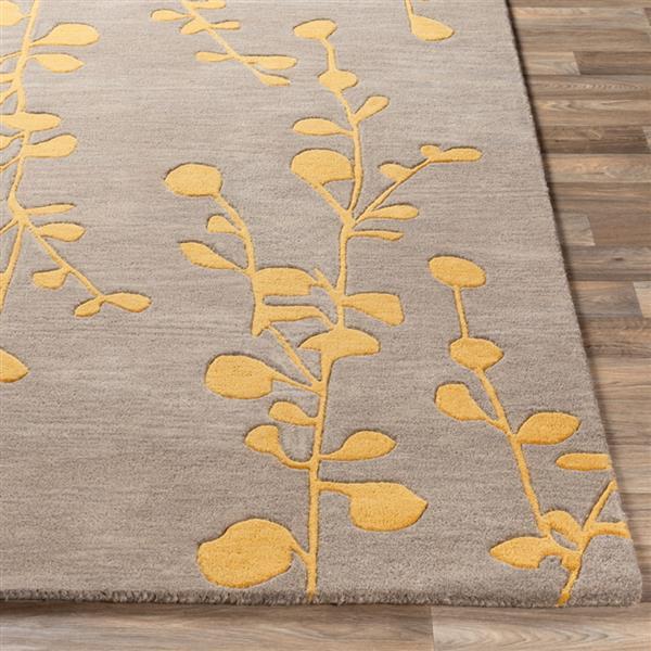 Surya Athena transitional area rug - 10-ft x 14-ft - Rectangular - Saffron