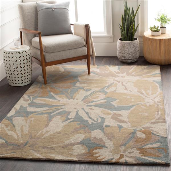 Surya Athena transitional area rug - 4-ft - Square - Teal