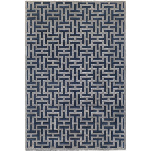 Surya Aesop modern area rug - 9-ft x 12-ft - Rectangular - Navy