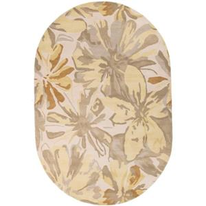 Surya Athena transitional area rug - 6-ft x 9-ft - Oval - Butter