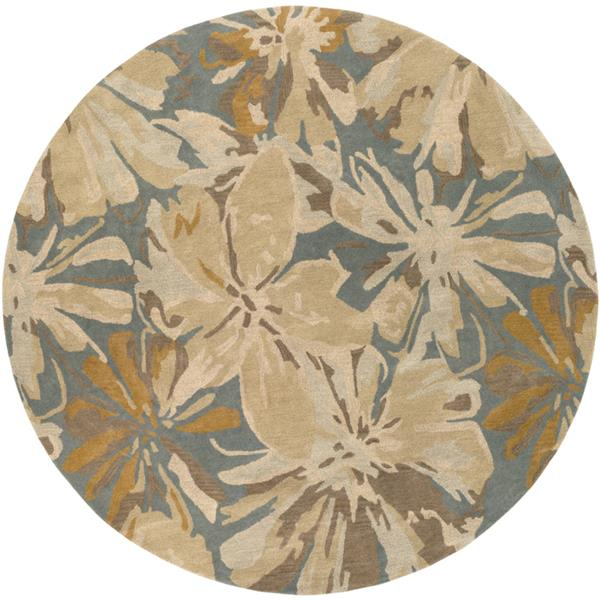 Surya Athena transitional area rug - 4-ft - Round - Teal