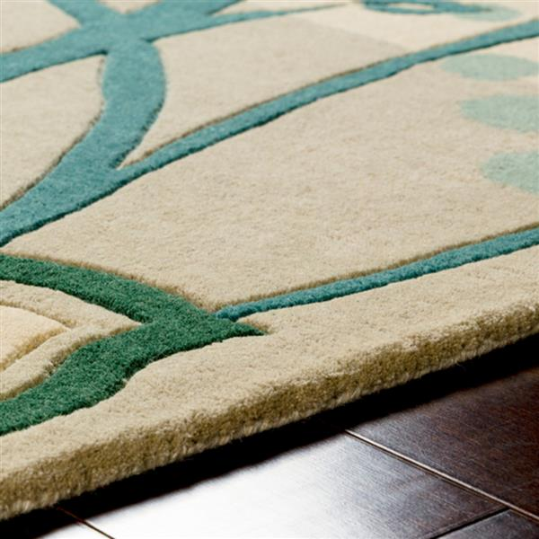 Surya Athena transitional area rug - 7-ft 6-in x 9-ft 6-in - Rectangular - Dark Green