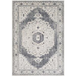 Surya Aura Silk updated traditional area rug - 5-ft 3-in x 7-ft 6-in - Rectangular - Black