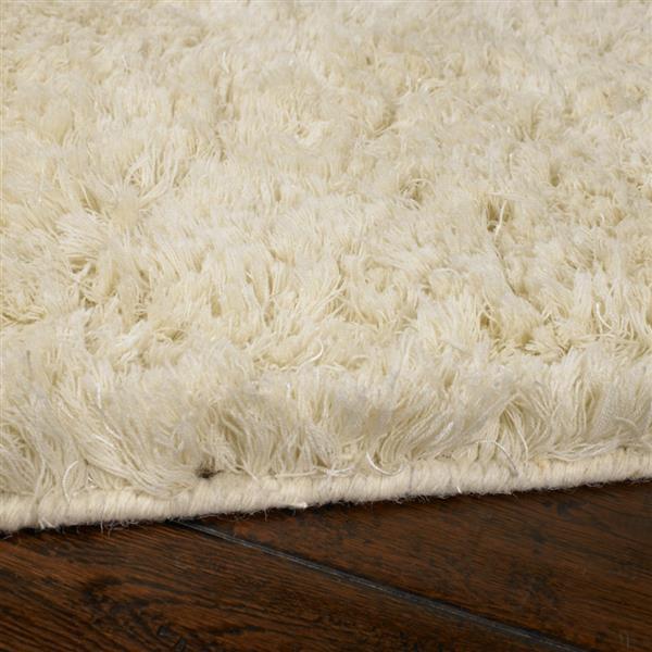 Surya Ashton shag area rug - 9-ft x 13-ft - Rectangular - Cream