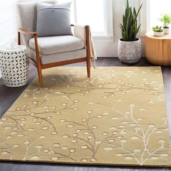 Surya Athena transitional area rug - 4-ft x 6-ft - Rectangular - Olive