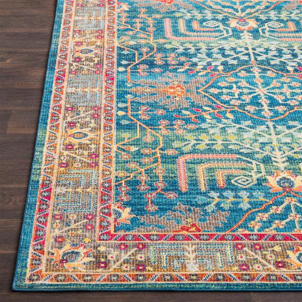 Surya Aura Silk updated traditional area rug - 7-ft 10-in x 10-ft 3-in - Rectangular - Blue