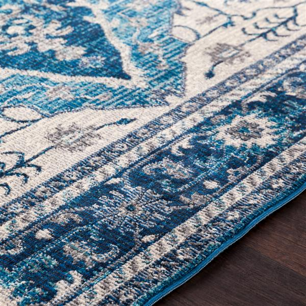 Surya Aura Silk updated traditional area rug - 6-ft 7-in-ft x 9-ft - Rectangular - Blue