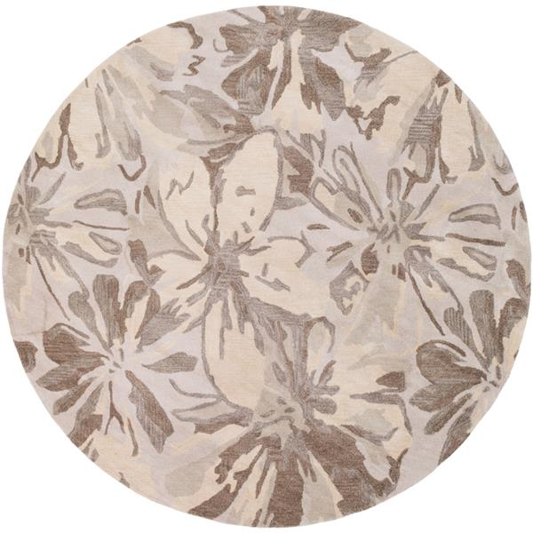 Surya Athena transitional area rug - 4-ft - Round - Light Grey