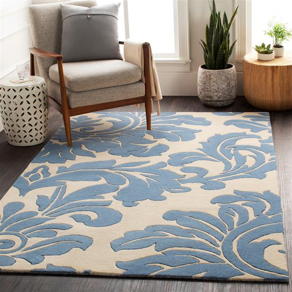 Surya Athena transitional area rug - 8-ft - Square - Blue