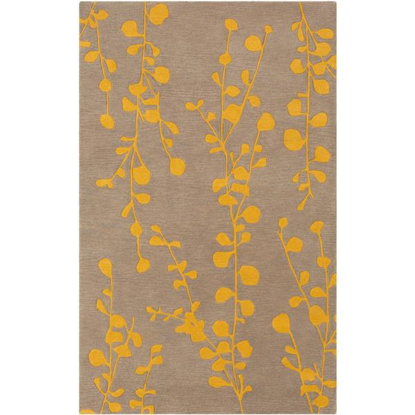 Surya Athena transitional area rug - 7-ft 6-in x 9-ft 6-in - Rectangular - Saffron