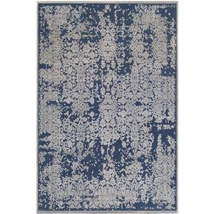 Surya Aesop updated traditional area rug - 6-ft 7-in x 9-ft 6-in - Rectangular - Navy