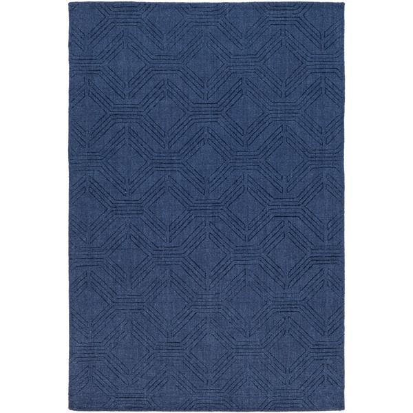 Surya Ashlee solid area rug - 5-ft x 7-ft 6-in - Rectangular - Navy
