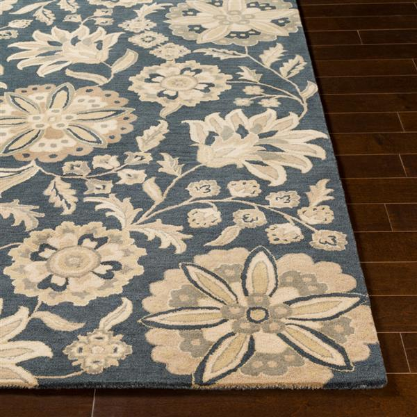 Surya Athena transitional area rug - 9-ft x 12-ft - Rectangular - Charcoal/Beige