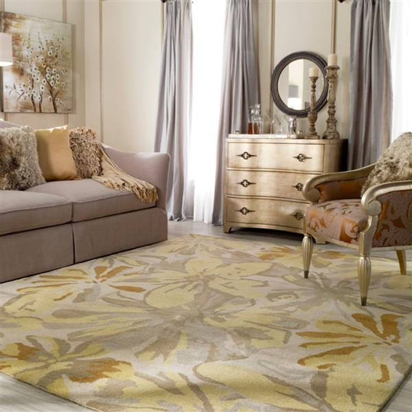 Surya Athena transitional area rug - 8-ft x 10-ft - Oval - Butter