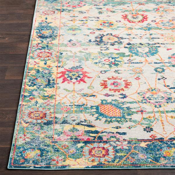 Surya Aura Silk updated traditional area rug - 5-ft 3-in x 7-ft 6-in - Rectangular - Multi