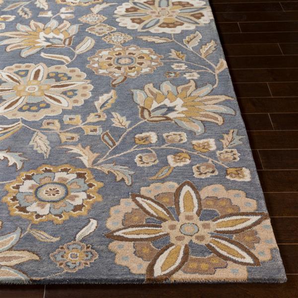 Surya Athena transitional area rug - 9-ft x 12-ft - Rectangular - Blue/Beige