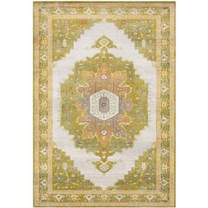 Surya Aura Silk updated traditional area rug - 5-ft 3-in x 7-ft 6-in - Rectangular - Lime