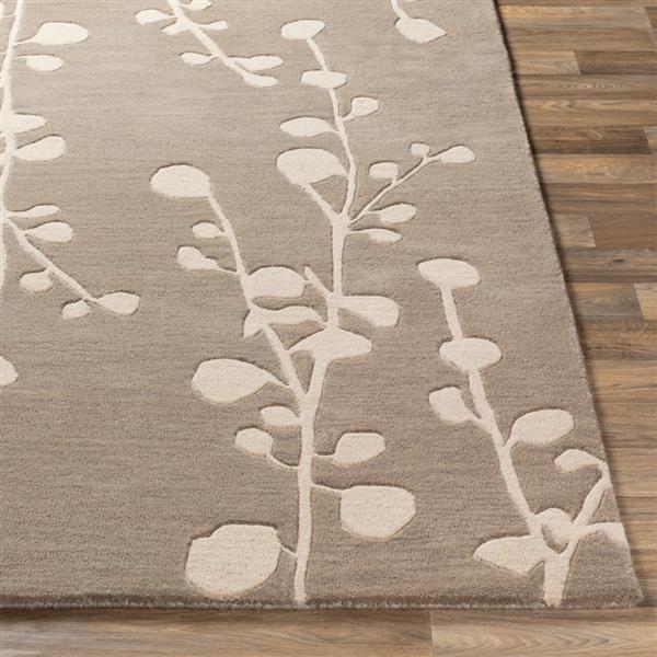 Surya Athena transitional area rug - 7-ft 6-in x 9-ft 6-in - Rectangular - Taupe