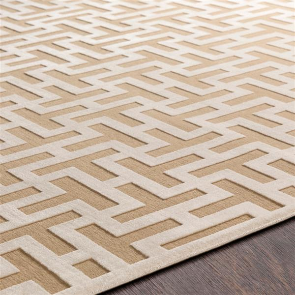 Surya Aesop modern area rug - 9-ft x 12-ft - Rectangular - Khaki