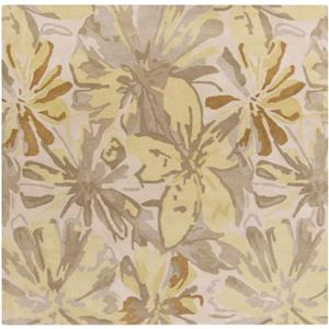 Surya Athena transitional area rug - 4-ft - Square - Butter