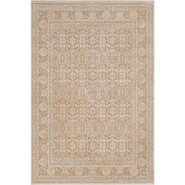 Surya Aesop updated traditional area rug - 7-ft 10-in x 10-ft 4-in - Rectangular - Khaki