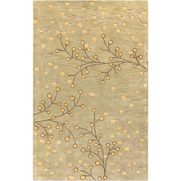 Surya Athena transitional area rug - 5-ft x 8-ft - Rectangular - Olive