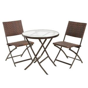 Best Selling Home Decor Belle Paso Patio Dining Set - Brown - Set of 3