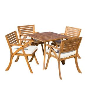 Best Selling Home Decor Indira Patio Dining Set - Acacia Wood - Set of 5
