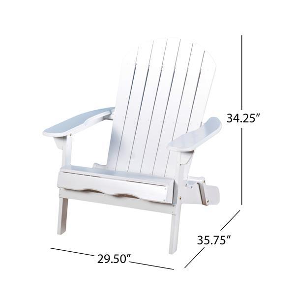 Best Selling Home Decor Berkshire Adirondack Chair - White Wood