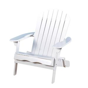 Chaise Adirondack en bois Berkshire de Best Selling Home Decor, blanche