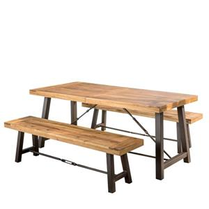 Best Selling Home Decor Amaya Picnic Table - Acacia Wood - Set of 3