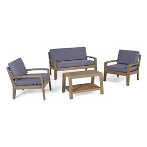 Best Selling Home Decor Rosetta Patio Set - Grey - Set of 4