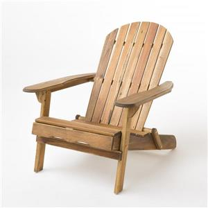 Chaise Adirondack en bois Berkshire de Best Selling Home Decor, fini naturel