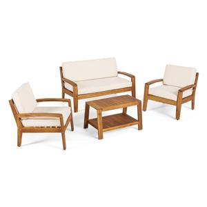 Best Selling Home Decor Rosetta Patio Set - Cream - Set of 4