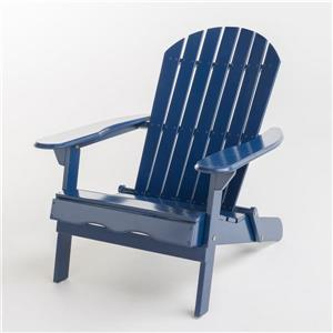 Chaise Adirondack en bois Berkshire de Best Selling Home Decor, bleue