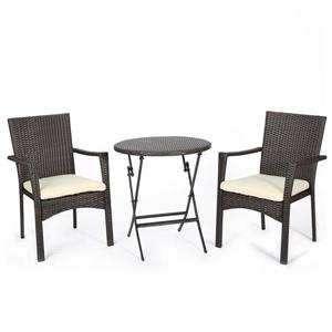 Best Selling Home Decor Gina Outdoor Bistro Set - Brown - Set of 3