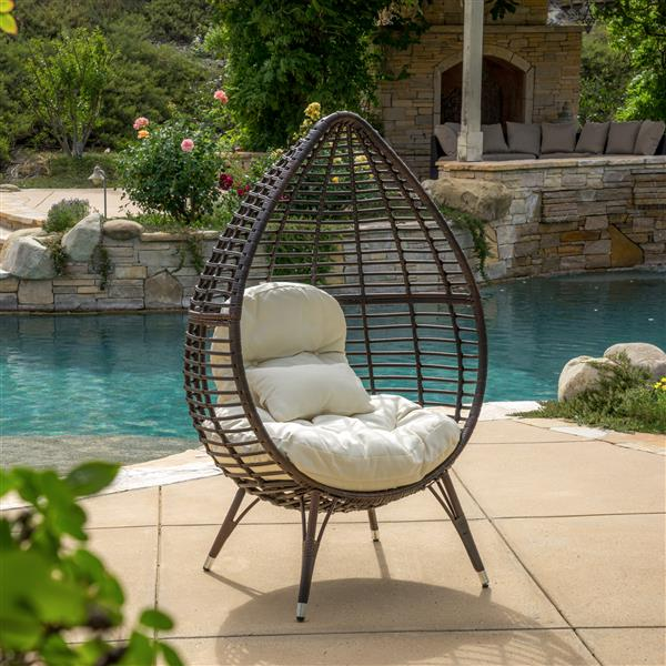 Chaise d'extérieur Ruby de Best Selling Home Decor, osier brun