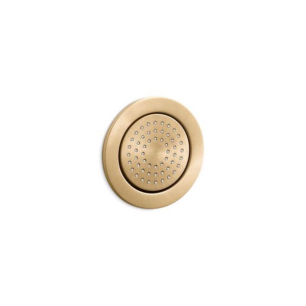 KOHLER WaterTile Round 54-Nozzle Bodyspray - 2.0 GPM - Brushed Gold