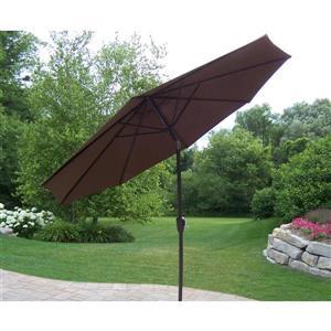 Oakland Living 9-ft Umbrella with Crank and Tilt - Brown
