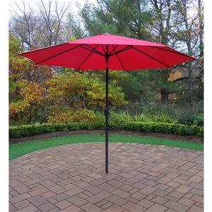 Oakland Living 9-ft Umbrella with Crank and Tilt System - Red and Black