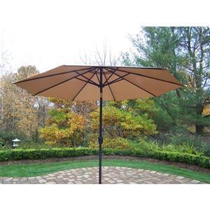 Oakland Living 9-ft Umbrella with Crank & Tilt System - Champagne and Black
