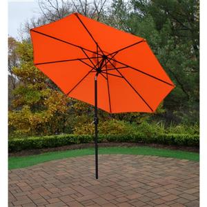 Oakland Living 9-ft Umbrella with Crank and Tilt System - Orange and Black