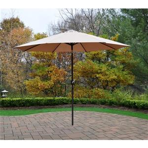 Oakland Living 9-ft Umbrella with Crank & Tilt System - Champagne and Brown